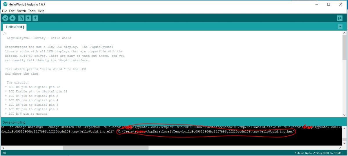 Simulasi menampilkan display LCD dengan Proteus (Arduino